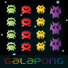 Galapong is a combination of tennis simulation and space shooter that inspired from the legendary Pong and Galaga. Play and move the red paddle with your mouse, catch the bouncing ball while shooting lasers at the never ending army of aliens and your rival the evil blue paddle! It`s a duel between two Pong paddles. Kill or be killed! Collect minerals and power ups, purchase upgrades, earn achievements!