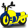 Great fast motorcycle coloring Game.