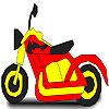 Superb motorbike coloring Game.