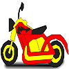 Superb motorbike coloring