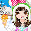 Winter Ice Cream Girl