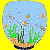 Cute aquarium coloring