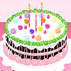 Strawberry birthday cake design