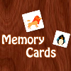 Play Memory cards game. Guess the animals choosing right pair of cards.