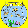 Big aquarium and fishes coloring A Free Customize Game