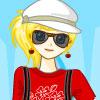 Blonde Cool Model