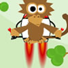 Jump as high as you can and don`t fall. jump onto different tree, use the monkey jet-pack to get more higher