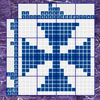 This is a classical nonogram or Japanese puzzle with standard rules. If you solve this puzzle you will see a picture of a funny sea animal. Guess who is it?  To solve it use numbers on the left and on the upper side of the grid as indices. These numbers show how many colored cells are in each block. For example, if you see the numbers 5,2 on the left of the row, then in this row there 5 colored cells in block, then some cells are blank, then 2 colored cells.