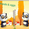 Two panda dozen eggs, can not fall to the ground, otherwise the egg yolk. Player 1: arrow keys to control direction, space to take the head-butting eggs Player 2: Keyboard ad control the left and right, jump w, e take the head-butting