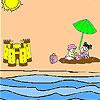 Sand castle coloring