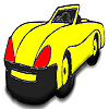 Yellow open top  car coloring A Free Customize Game