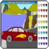 """Audi A6, rocks and road"" - Choose a coloring ""Super Car"" and click on the picture. It is free coloring game for kids."