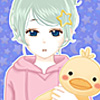 create your own shoujo manga character,choose her super cute pillows and  dress her up with cute pajamas.