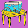 Aquarium and table coloring