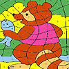 Bear and fish coloring
