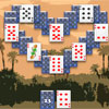 Real-Free-Arcade.com presents new card solitaire game with picturesque graphic and captivating gameplay. You come across the arid desert from one oasis to another. The trip is difficult and you should play solitaire games in each rest.