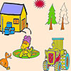 Duck in the farm coloring A Free Customize Game