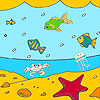 Big ocean and fishes coloring A Free Customize Game