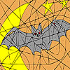 Alone bat coloring Game.