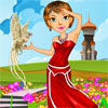 The princess of the Fantasy Land requires new royal clothes. Dress her in a mythical royal costume.