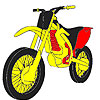 Faster red motorbike coloring A Free Customize Game