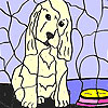 Lonely dog coloring