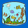 Lantern In the fishes coloring A Free Customize Game