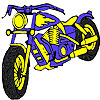 Big blue motorbike coloring