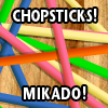 Chopsticks is an acient game that requires a lot off skills! Use your mouse to remove all chopsticks but.... only remove the top chopstick!