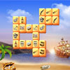 Free-Online-Action.com presents new mahjong game in caribbean treasures theme. Use your ancient pirate map that helps you to find treasures, travel on mysterious island, full of dangerous adventures, and capture the precious trunk. Picturesques quality graphics, hundred levels, classic gameplay.