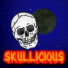 Hold the skull in the air by clicking it and collecting powerups.