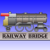 Game type of bridge construction. Build railway bridges, opens new trains.