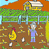 Farmer and vegetables coloring