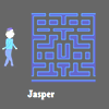 Maze Man Jasper is a fast paced, arcade style game. Get the energy cans to be able to kill the ghosts before they kill you. Clear the maze of the dots to start a new level. An extra life is awarded if you reach 10000 points.