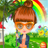 Cute Girl In The Garden A Free Dress-Up Game