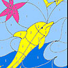 Small fishes  and dolphin coloring A Free Customize Game