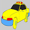 Fast police car coloring