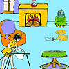 Lisa at home coloring Game.