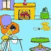 Lisa at home coloring