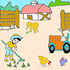 Farmer  boy and animals coloring