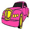 Classic pink car coloring