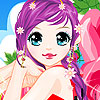 Purple haired girl dress up