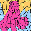 Pink bears coloring