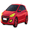 Red Hyundai  car coloring