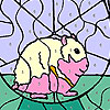 Mouse  in the cage coloring