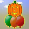 Pumpkin needs to go up and has 3 balloons. He has to jump on them alternatively so that they wouldn`t bust out.