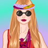 Hippie girl dress up game