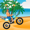 Ride on the beach with your motorbiker over hills and as you try to stay balanced without tipping over.