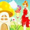 Gloved Girl And Mushroom Home A Free Dress-Up Game