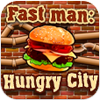 Help the hungry person to collect hamburgers. Try not to lose any hamburger, with it you will be helped by bonuses which slow down speed collect all hamburgers on a game field and bring additional lives. Avoid stones, they will take away from you one life.